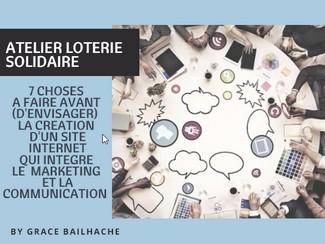grace bailhache tournee solidaire atelier loterie solidaire creation site
