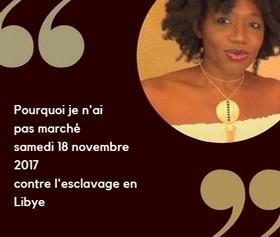 grace bailhache marche novembre esclavage libye